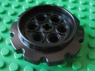 Technic Tread Sprocket Wheel Large 黑色