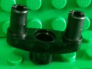 Technic, Pin Connector 3L with 2 Pins and Center Hole 黑色