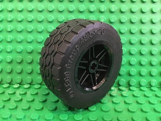 Wheel 30.4mm D. x 20mm with Tire 49.5 x 20 (56145 / 15413)