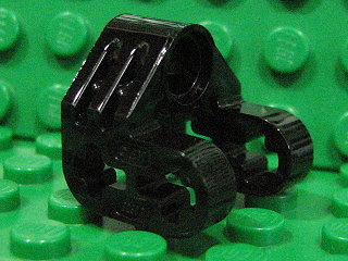 Technic, Axle and Pin Connector Perpendicular Split 黑