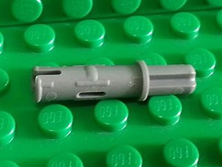 Technic, Axle Pin 3L with Friction Ridges Lengthwise 深藍灰
