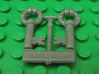 Minifig, Utensil Keys, 2 on sprue 深藍灰色