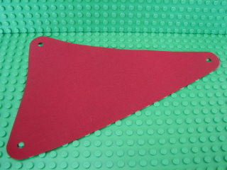 Cloth Sail Triangular 15 x 22 暗紅色