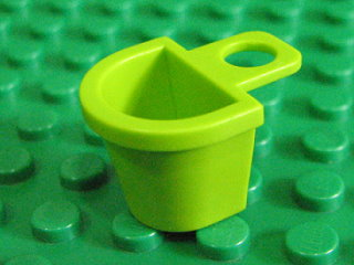 Minifig, Container D-Basket 萊姆綠
