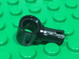 Technic, Pin with Friction Ridges Lengthwise and Pin Hole 黑