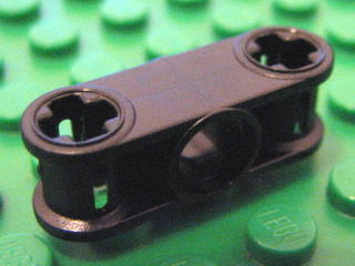 Technic, Axle Joiner Perpendicular 3L with Center Hole 黑色