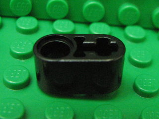 Technic, Liftarm 1 x 2 Thick with Pin Hole and Axle Hole 黑