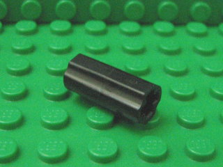 Technic, Axle Connector (Smooth with x hole + orientation)黑