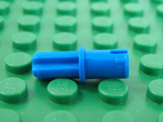 Technic,Axle Pin WITH Friction Ridges Lengthwise On Shaft 藍