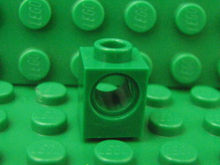 Technic, Brick 1 x 1 with Hole 綠色