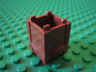Container, Box 2 x 2 x 2 - Top Opening 紅褐色